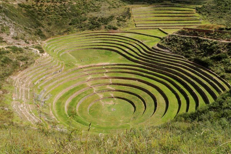 Terraços circulares em Moray
