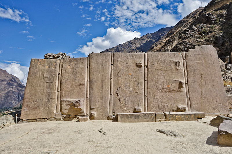 The Temple of the Sun in Ollantaytambo