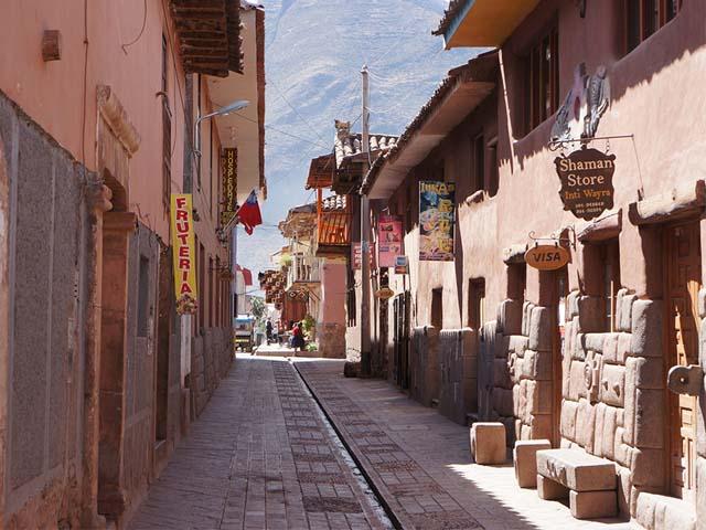 Típica calle de Pisac