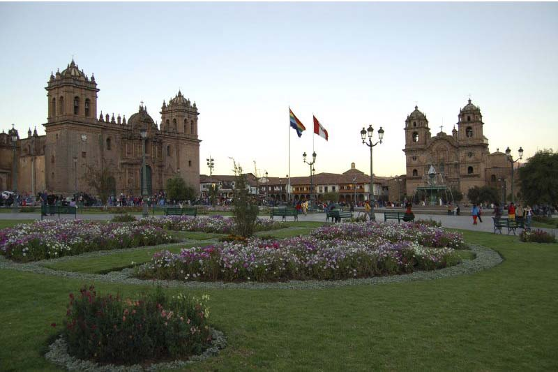 Main Square, in the historical center of Cusco