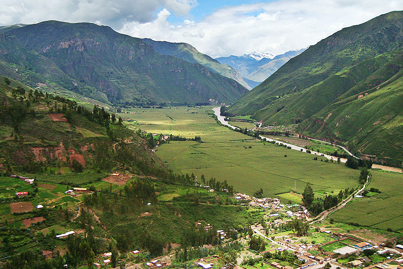 Landscape of the Sacred Valley of the Incas