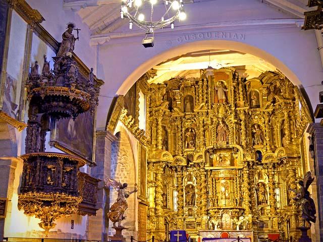 Pulpito de la iglesia de San bLas