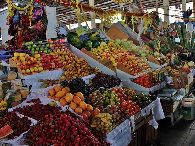 Frutas frescas y variopintas