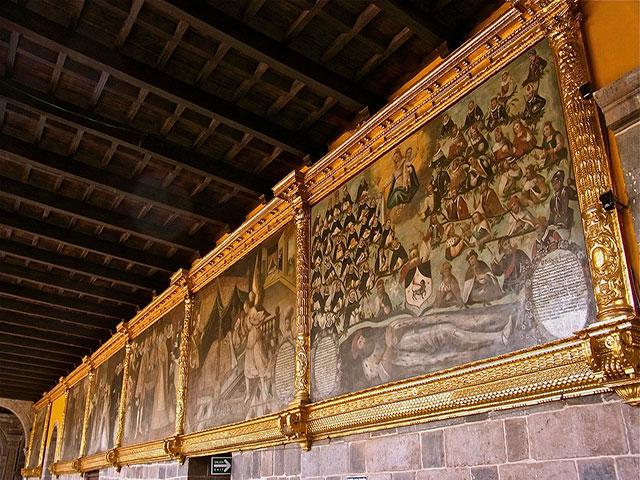 Monasterio de Santo Domingo  -  Pintura perteneciente a la Escuela Cusqueña