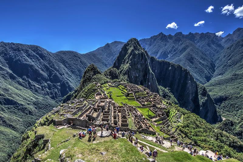 Machu Picchu na estação seca