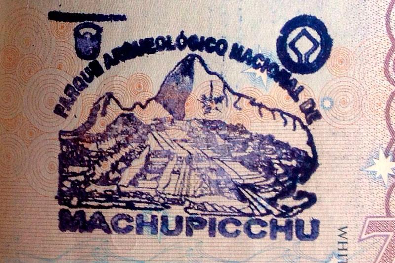 El Sello De Pasaporte De MacHu Picchu