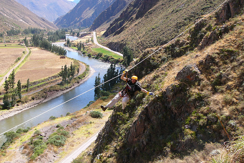 Ziplining in the Sacred Valley of the Incas Cusco
