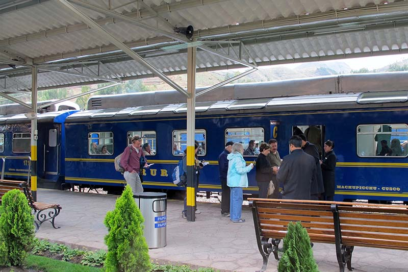 Poroy station, exit of the train towards Machu Picchu