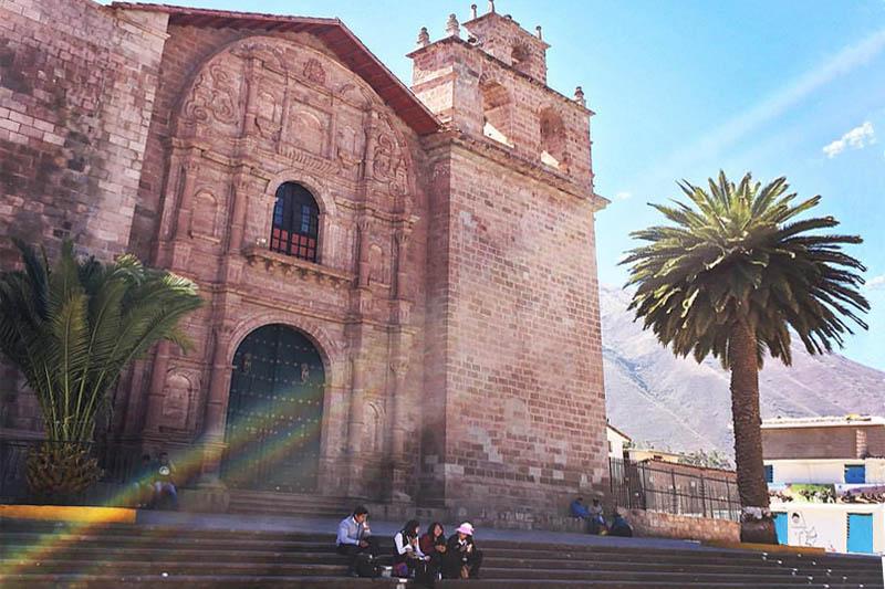 Facade of the main church of Urubamba