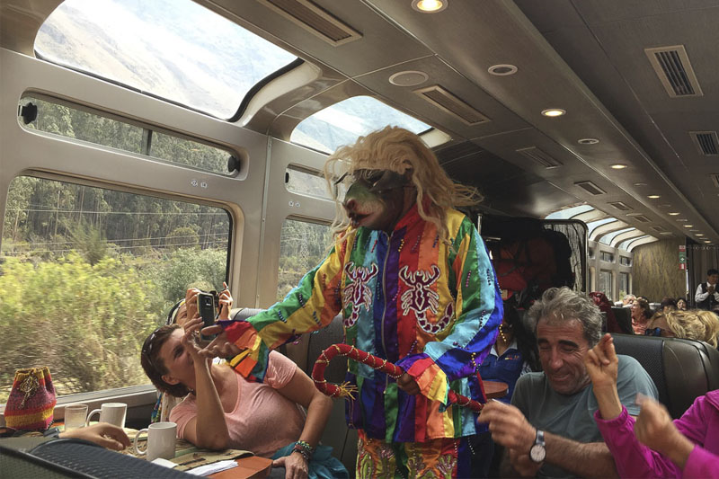 Show on the train to Machu Picchu