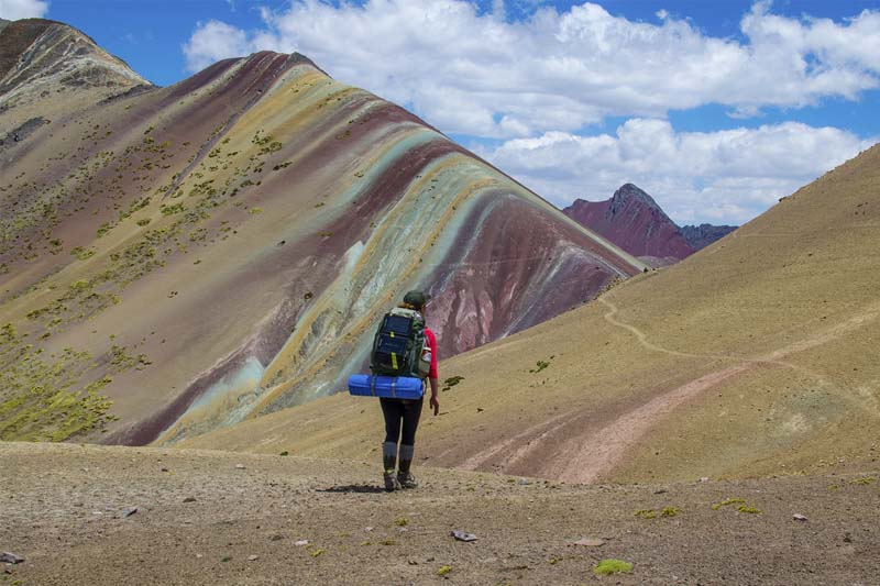 Mountain view of seven colors
