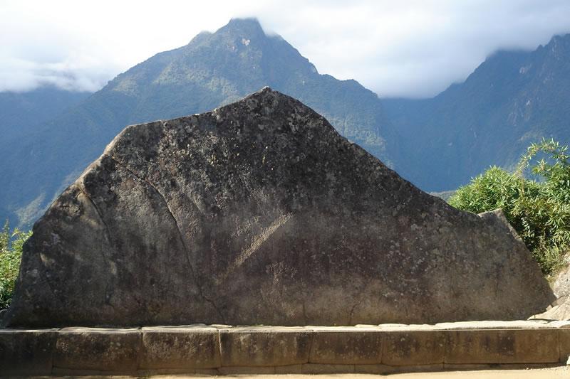 Sacred rock of Machu Picchu