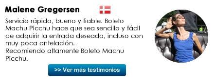 Testimonio Boleto Machu Picchu