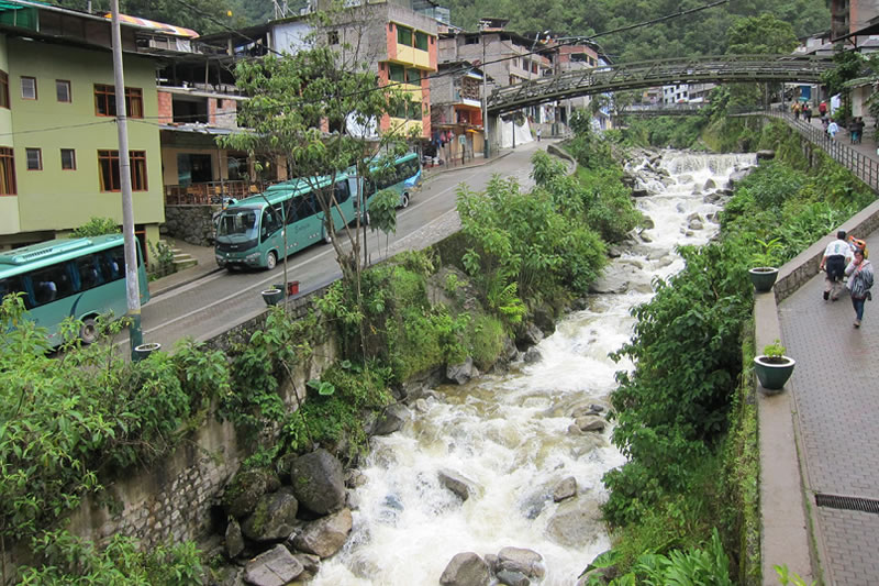 Bus station in Aguas Calientes