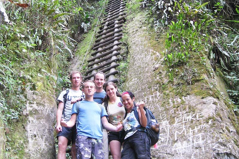 Slope of the walk towards the mountain Putucusi