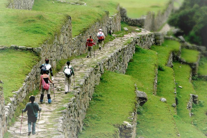 Entrance to Machu Picchu by the Inca Trail