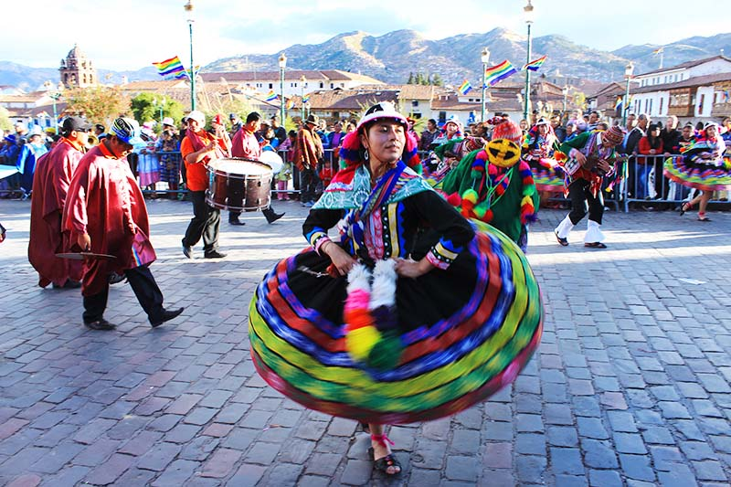 Parade in the foundations of Cusco