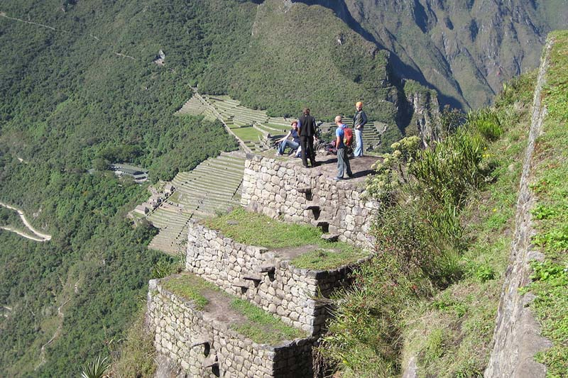 Panoramic view of Machu Picchu from the mountain Huayna Picchu