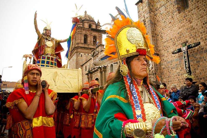 Inca in the celebrations of Cusco