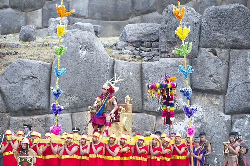 Inca in the Inti Raymi