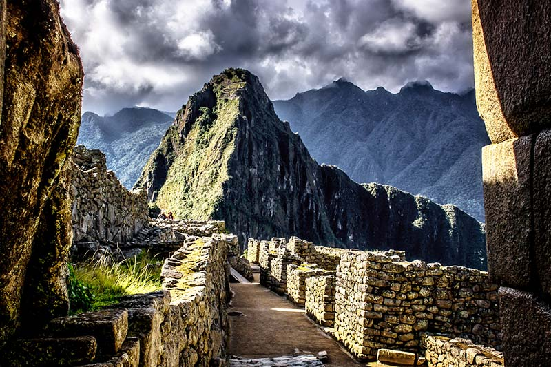 Camino inca en Machu Picchu