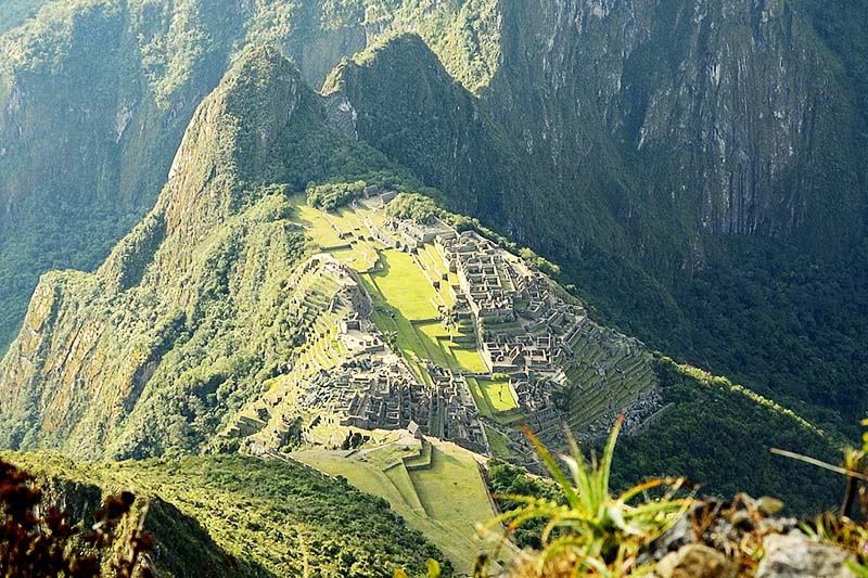 Beautiful view of the citadel of Machu Picchu