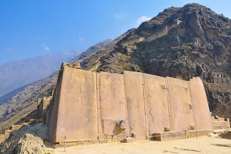 Ruins of the ancient Temple of the Sun, in Ollantaytambo
