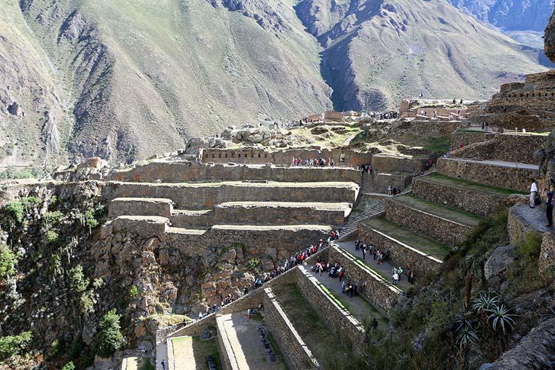 Escalinatas en Ollantaytambo