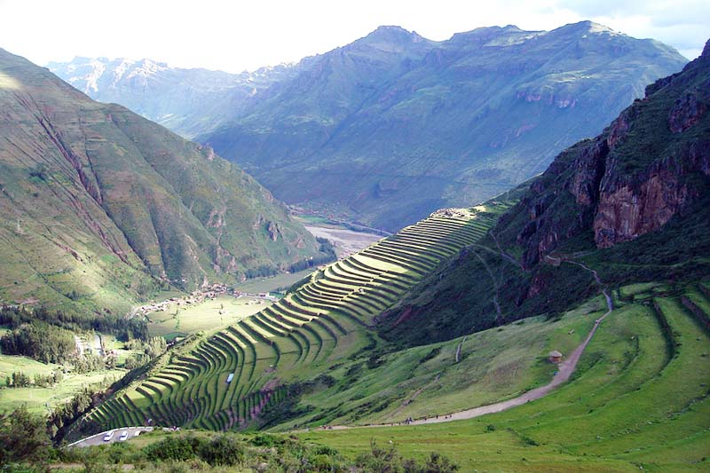 The Inca Ruins of Pisac in the Sacred Valley
