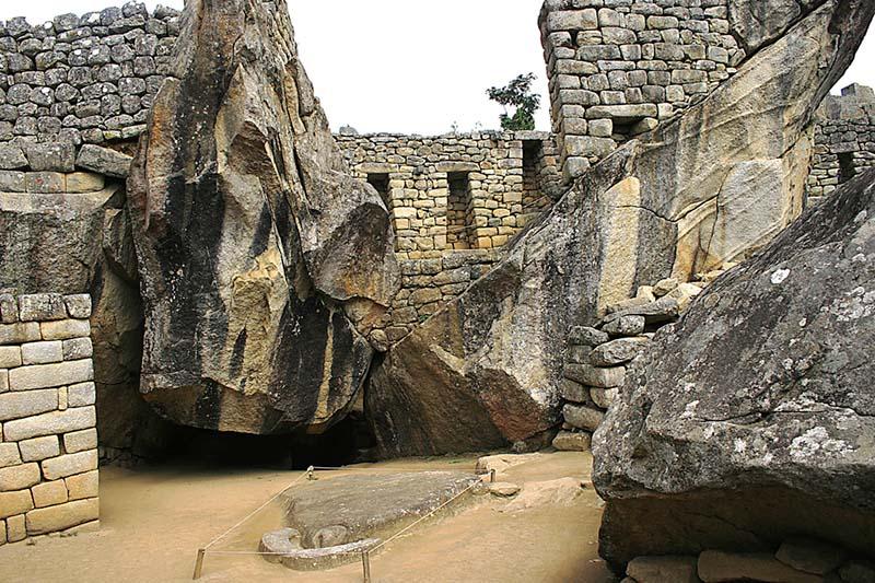 El Templo del Condor en Machu Picchu