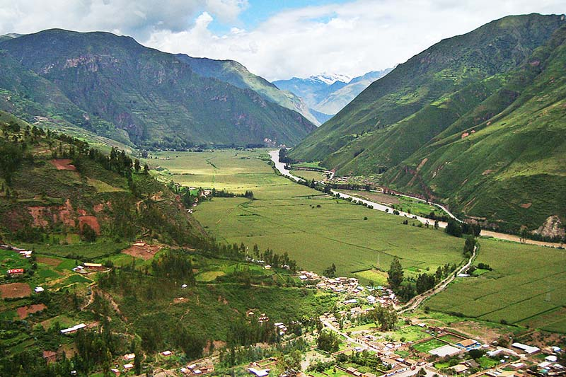 Panoramic view of the Sacred Valley of the Incas