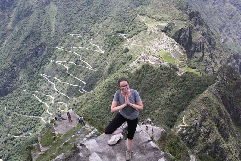 Vista de la cima de la montaña Huayna Picchu