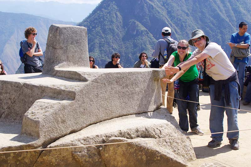 El Intihuatana En Machu Picchu El Reloj Solar De Los Incas