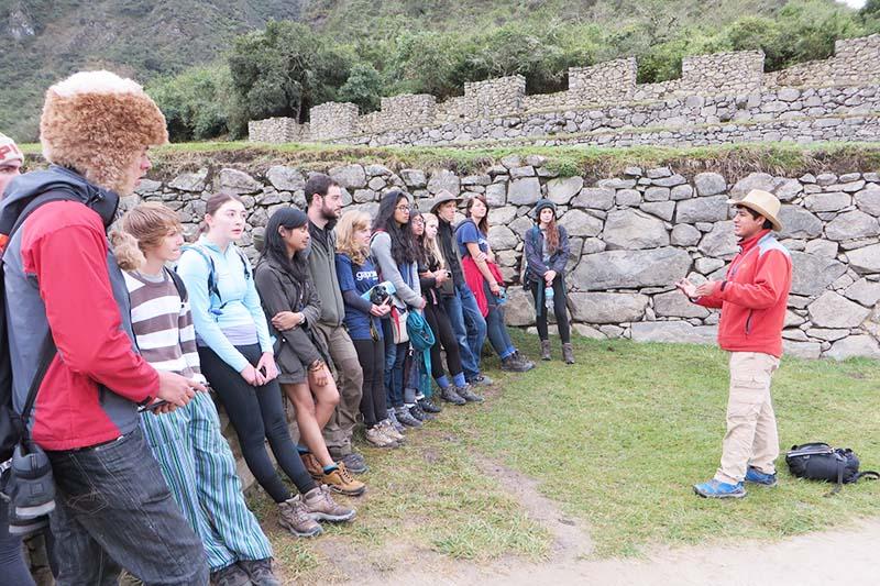 Tour guide in machu picchu