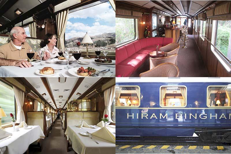Interior del tren Hiram Bingham