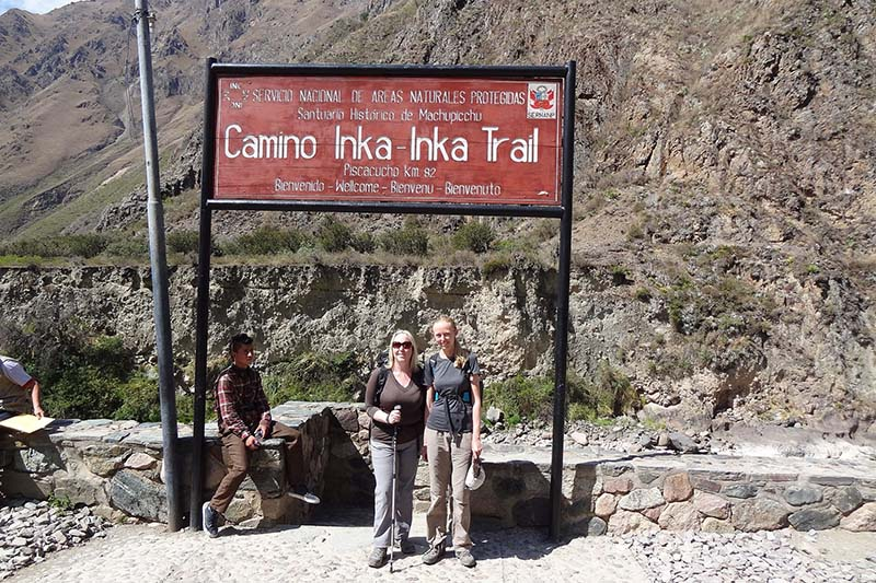 Ingreso al Camino Inca
