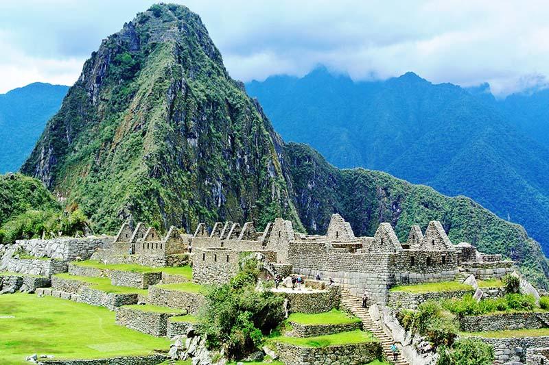 Mountain Huayna Picchu seen from Machu Picchu