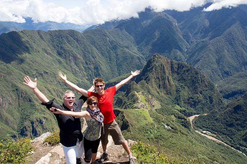View of the Inca city of Machu Picchu from Machu Picchu mountain