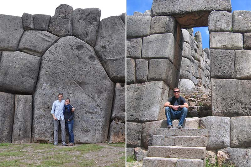 Tourists in the Sacsayhuaman fortress in Cusco
