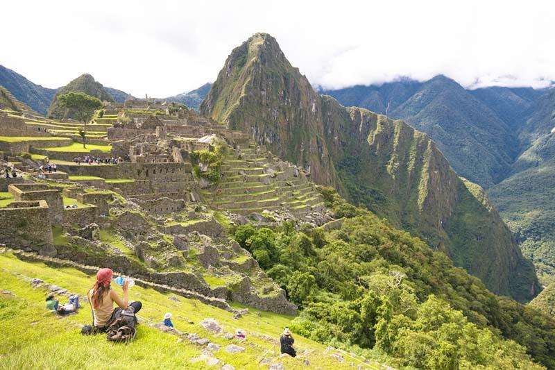 Solo en Machu Picchu