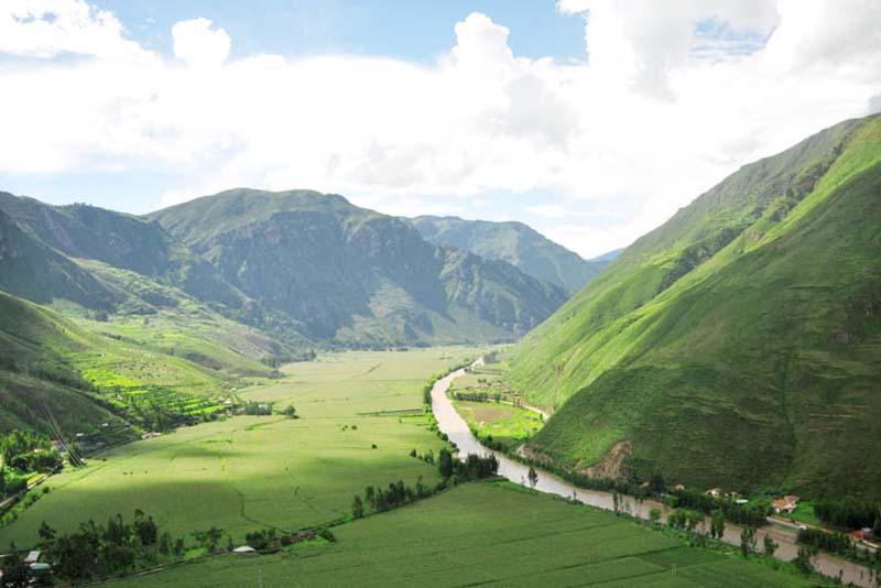 Vista panoramica del Valle Sagrado de los Incas