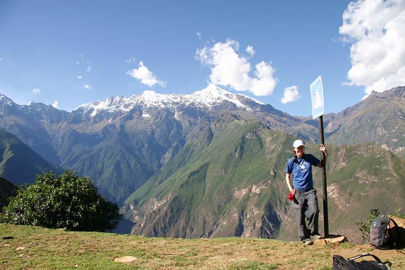 Hermosos paisajes en el camino inca