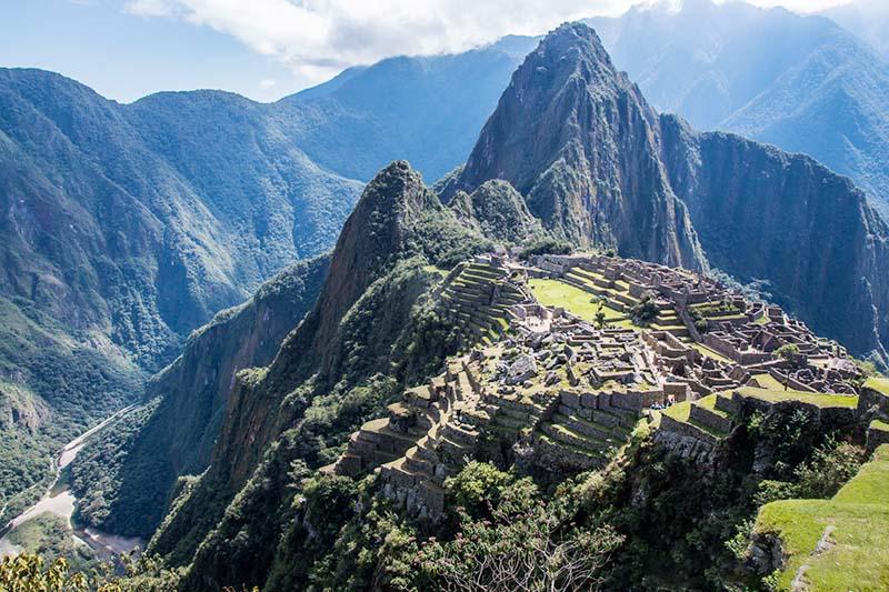 Vista general de la ciudad inca de Machu Picchu