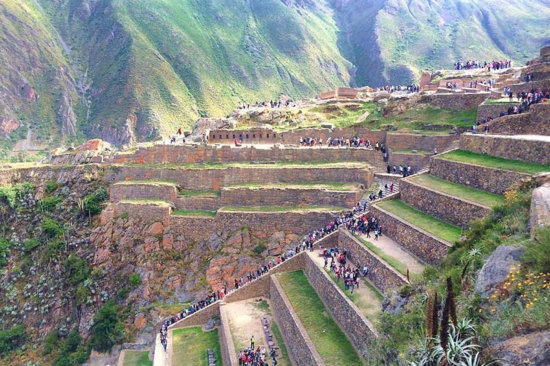 View of the archaeological complex of Ollantaytambo