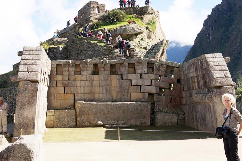 Vista Templo Principal en Machu Picchu