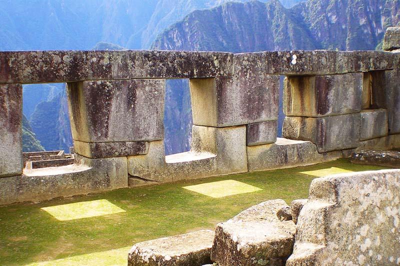 Interior del Templo de las Tres Ventanas