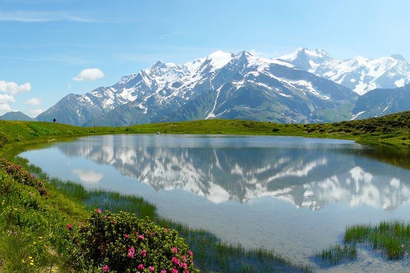 Vista de Le Mont Blanc en Francia
