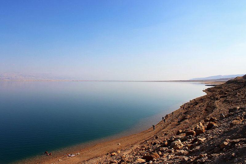 Vista del Mar Muerto en Israel