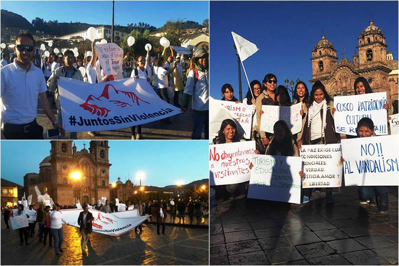 Marcha por la paz en Cusco