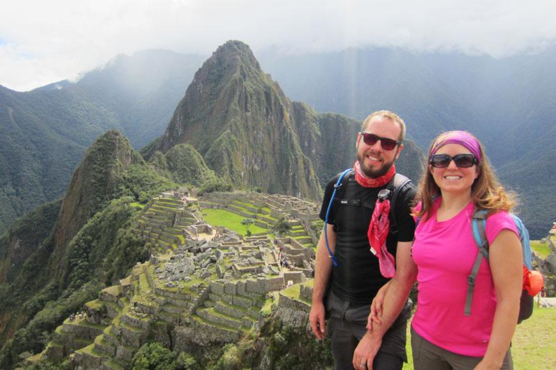 Tourists in Machu Picchu in the off season